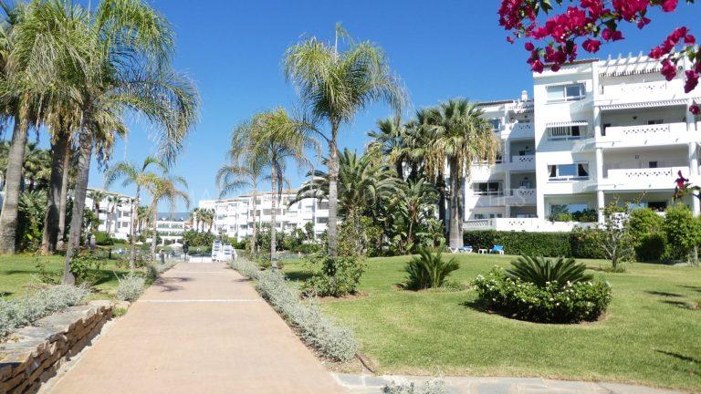Beachfront complex in Puerto Banus.  3-bedroom apartment for sale