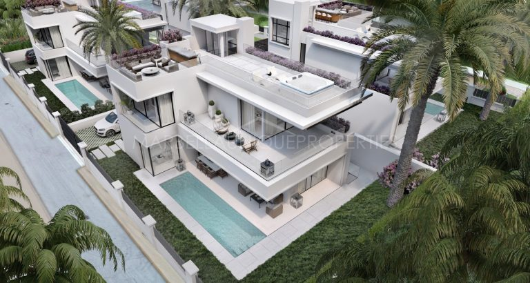 A brand new 5 bedroom beachside villa on Marbellas Golden Mile